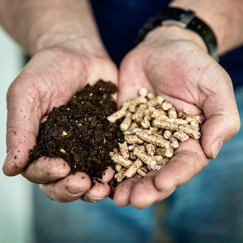 Glenuig Inn Dried food waste and wood pellet Bio Fuel