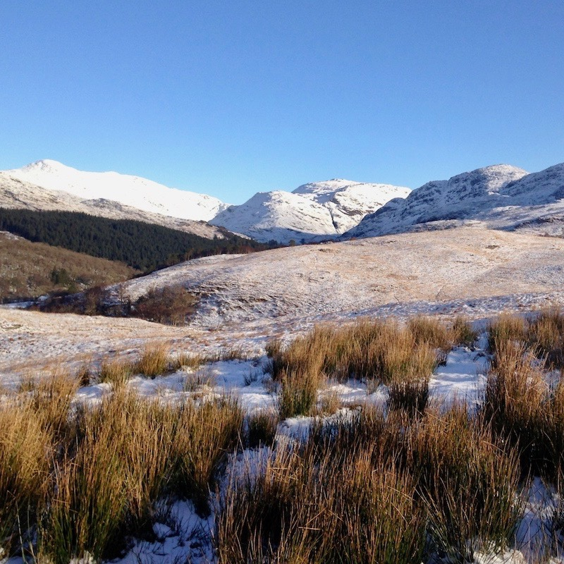 Glenuig Inn Glen Moidart Winter Walking